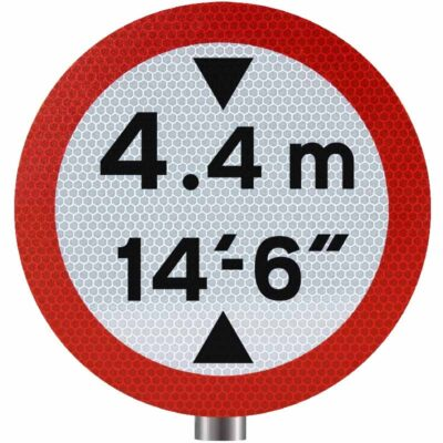Tennants Vehicle Height Restriction Sign for Posts