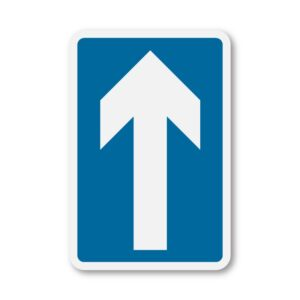Ahead-Only-Sign-for-Posts-diagram-652