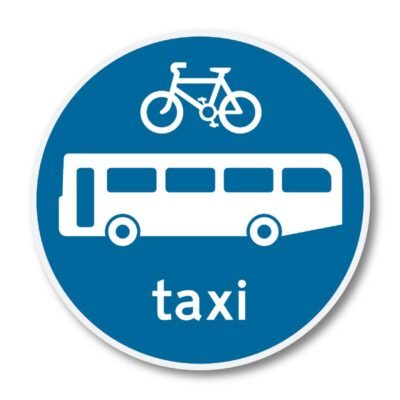 Bicycles-Buses-and-Taxis-Only-Sign-for-Posts-diagram-953