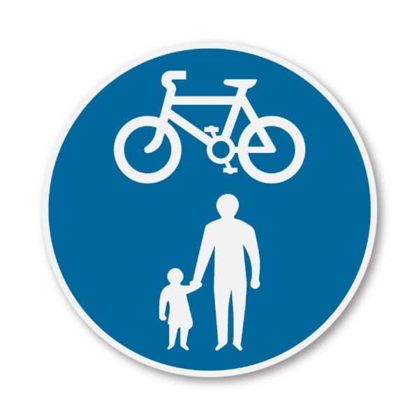 Cycle-and-Pedestrian-Sign-for-Posts-diagram-956