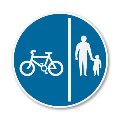 Cyclists-Keep-Left-Sign-for-Posts-diagram-957b