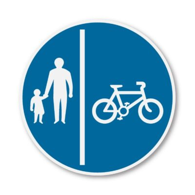 Cyclists-Keep-Right-Sign-for-Posts-diagram-957a