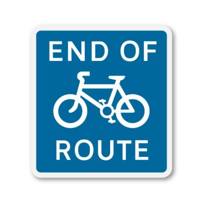 End-of-Cycle-Route-Sign-for-Posts-diagram-965