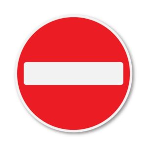 No-Entry-Sign-for-Posts-diagram-616