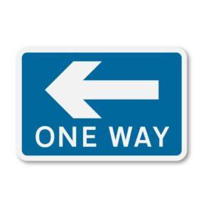 One-Way-Left-Sign-for-Posts-diagram-810