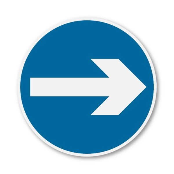 One-Way-Round-Sign-for-Posts-diagram-606