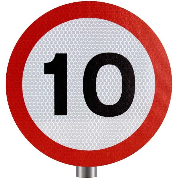 Tennants - 10 MPH Speed Limit Sign for Posts