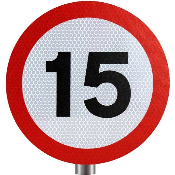Tennants - 15 MPH Speed Limit Sign for Posts