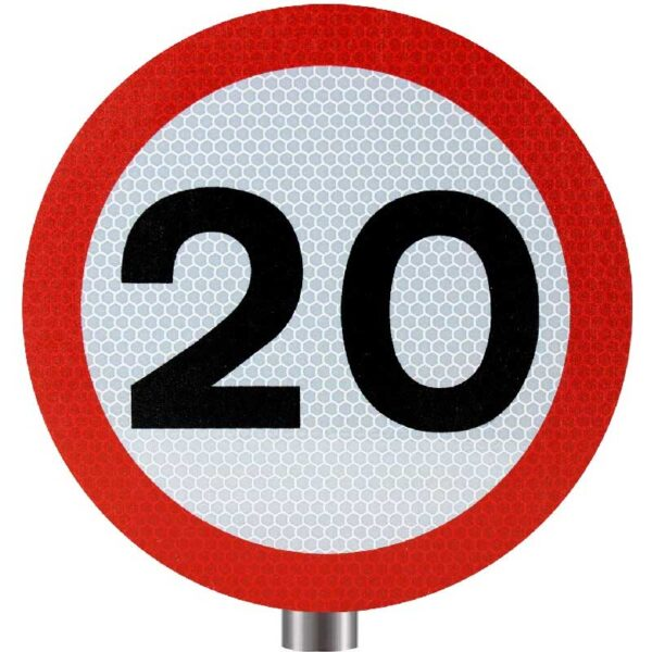 Tennants - 20 MPH Speed Limit Sign for Posts