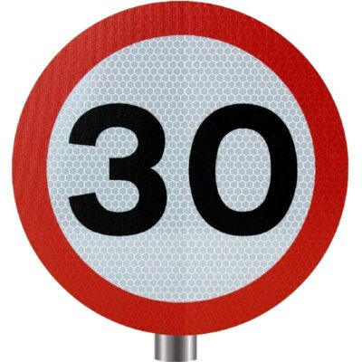 Tennants - 30 MPH Speed Limit Sign for Posts