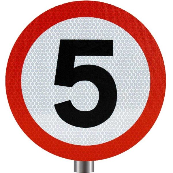 Tennants - 5 MPH Speed Limit Sign for Posts