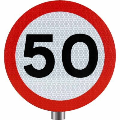 Tennants - 50 MPH Speed Limit Sign for Posts