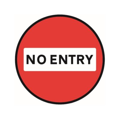 Tennants No Entry Floor Stickers