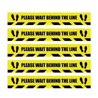 Tennants Please Wait Behind the Line Stickers