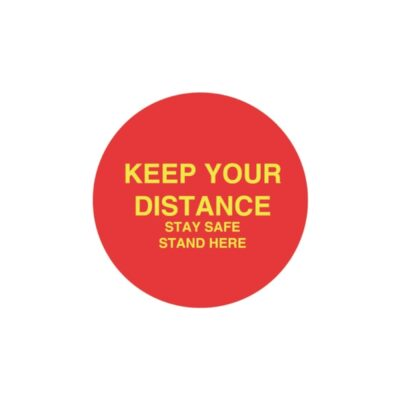 Tennants Keep Your Distance Floor Stickers