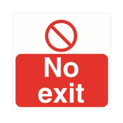 Tennants No Exit Floor Stickers