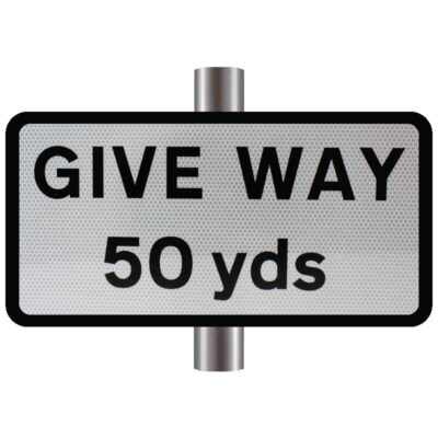 Give Way Yds Supplementary Sign