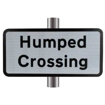 Humped Crossing Supplementary Sign